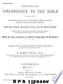 Analytical Concordance to the Bible Book