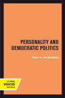 Personality and Democratic Politics