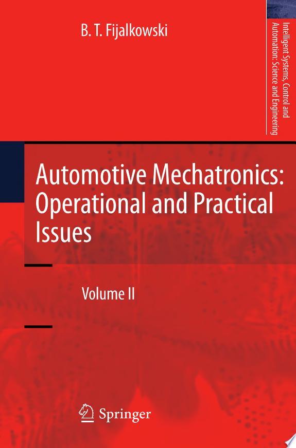 Automotive Mechatronics: Operationa
