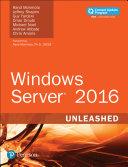 Windows Server 2016 Unleashed (includes Content Update Program) Pdf/ePub eBook