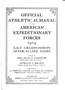 Official Athletic Almanac of the American Expeditionary Forces  1919