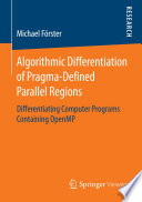 Algorithmic Differentiation Of Pragma Defined Parallel Regions Book PDF