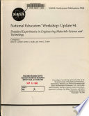 National Educators  Workshop  Update 1994  Standard Experiments in Engineering Materials Science and Technology