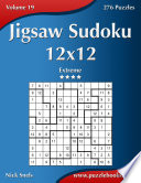 Jigsaw Sudoku 12x12 Extreme Volume 19 276 Puzzles