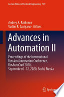 Advances in Automation II Book