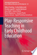 Play Responsive Teaching In Early Childhood Education