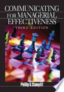 """Communicating for Managerial Effectiveness"" by Phillip G. Clampitt"