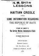 Lessons in Haitian Creole with Some Information Regarding the Republic of Haiti Book