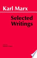 Marx  Selected Writings