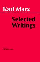 Marx: Selected Writings Pdf/ePub eBook