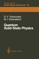 Quantum Solid-State Physics