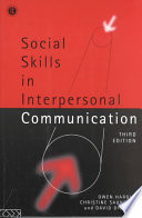 Social Skills in Interpersonal Communication Book PDF