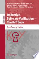 Deductive Software Verification     The KeY Book Book