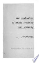 The Evaluation of Music Teaching and Learning