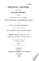 Original letters  illustrative of English history  with notes and illustr  by H  Ellis Book