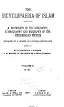 The Encyclopaedia of Islām