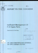 Inefficient Management of F-14 Spare Parts, Department of the Navy