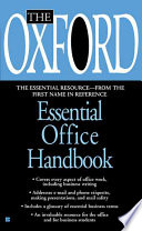 The Oxford Essential Office Handbook