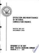 Operation and Maintenance of Internal Combustion Engines