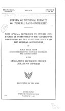Survey Of National Policies On Federal Land Ownership Book PDF