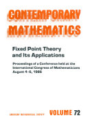Fixed Point Theory and Its Applications