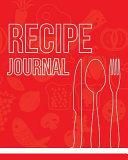 Recipe Journal Book