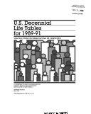 U S Decennial Life Tables For 1989 91 No 48