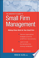 The Architect s Guide to Small Firm Management