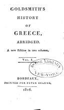 Goldsmith's History of Greece, Abridged