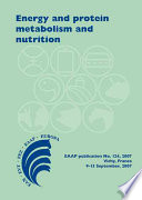 Energy and protein metabolism and nutrition