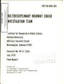 Multidisciplinary Highway Crash Investigation Team