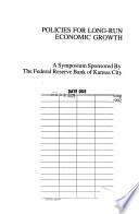 Policies for Long-run Economic Growth