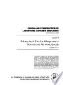 Design and Construction of Large panel Concrete Structures