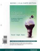 College Mathematics for Business, Economics, Life Sciences and Social Sciences, Books a la Carte Plus Mymathlab Package