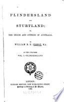 Flindersland and Sturtland Or the Inside and Outside of Australia Book
