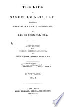 The Life Of Samuel Johnson Ll D Including A Journal Of A Tour To The Hebrides