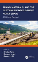 Mining  Materials  and the Sustainable Development Goals  SDGs