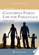 """""""California Family Law for Paralegals"""" by Marshall W. Waller"""