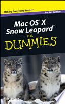 Mac Os X Snow Leopard For Dummies Pocket Edition