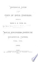 Professional Papers by the Corps of Royal Engineers     Royal Engineers Institute Book