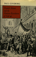 Daniele Manin and the Venetian Revolution of 1848-49