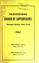 Proceedings - Board of Supervisors, Oswego County, New York