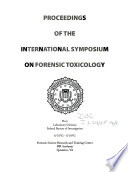 Proceedings of the International Symposium on Forensic Toxicology Book