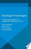 Psychology for Psychologists