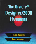 THE ORACLE DESIGNER/2000 HANDBOOK. Edition en anglais