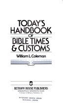 Today's handbook of Bible times & customs