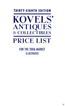 Kovels  Antiques   Collectibles Price List 2006