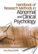Handbook Of Research Methods In Abnormal And Clinical Psychology Book PDF