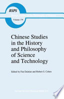 Chinese Studies in the History and Philosophy of Science and Technology