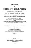 Histoire des découvertes géographiques des nations européennes dans les diverses parties du monde ... [Première section: Asie. Asie mineure]
